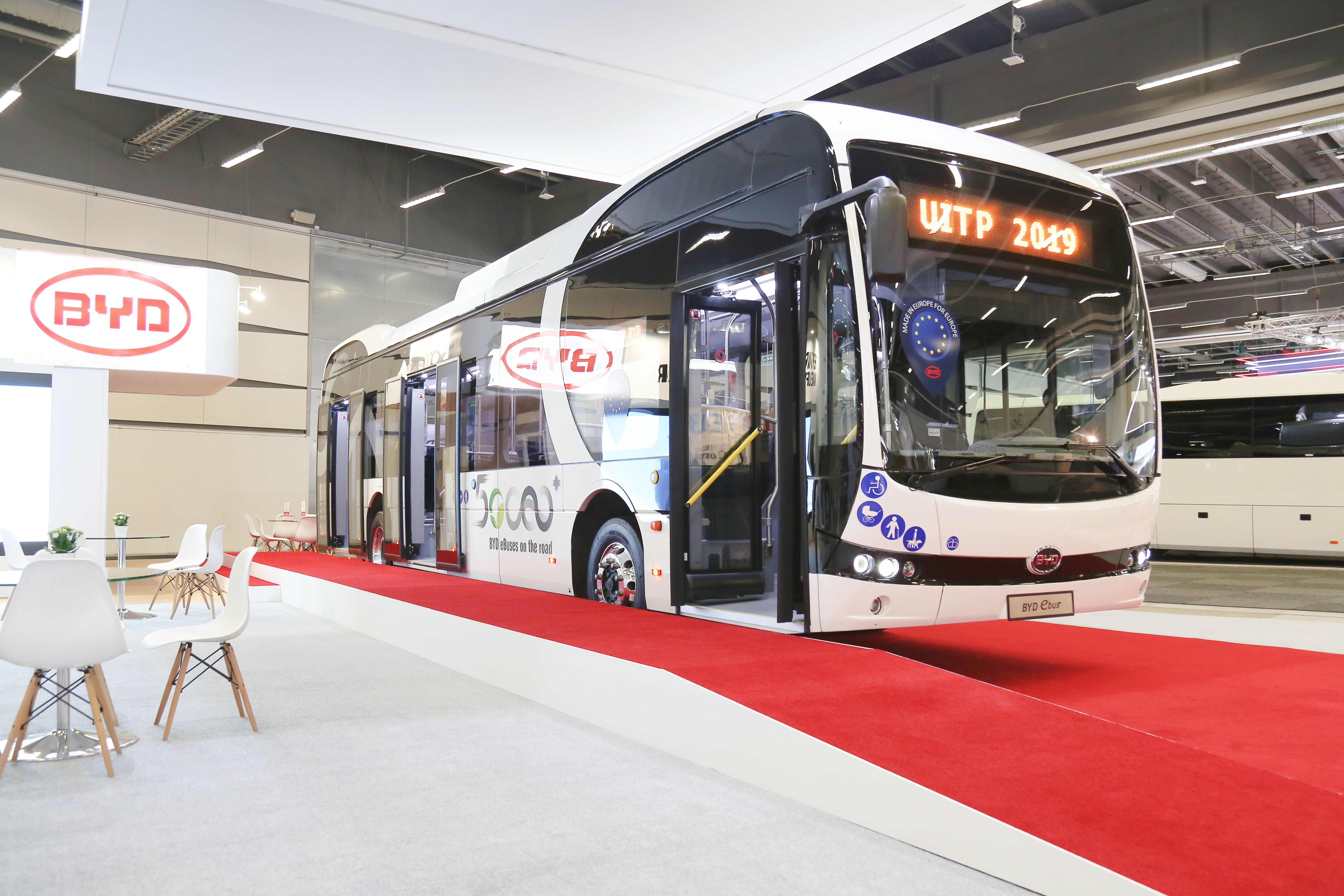 BYD shows fleet favourite 12-metre eBus at UITP